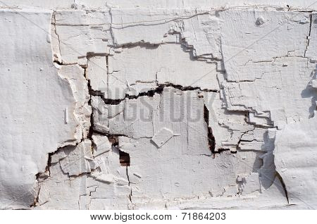 White Damaged Wall