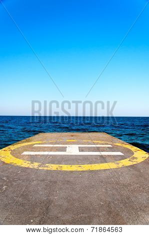 Helipad Near Water