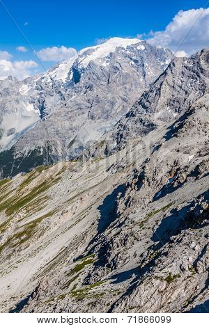 Beautiful Mountain Located In The Ortles Group (stelvio National Park)