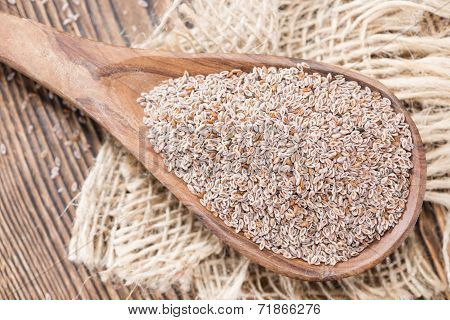 Wooden Spoon With Psyllium