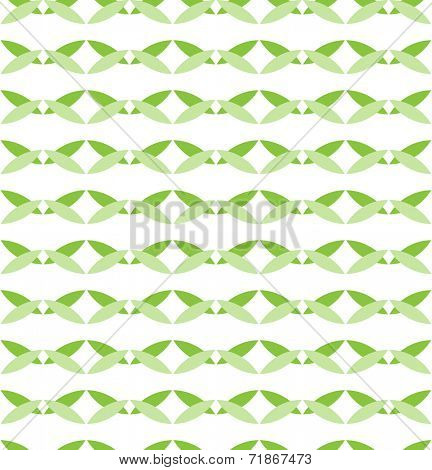 seamless pattern - green background based circles / sacred geometry