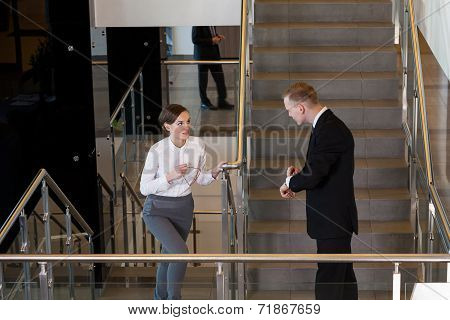 Woman Being Late For Meeting