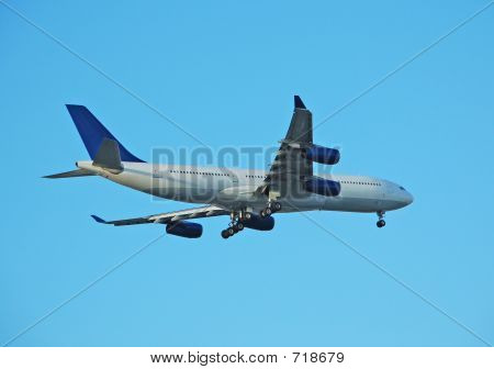 Airbus passenger airplane landing