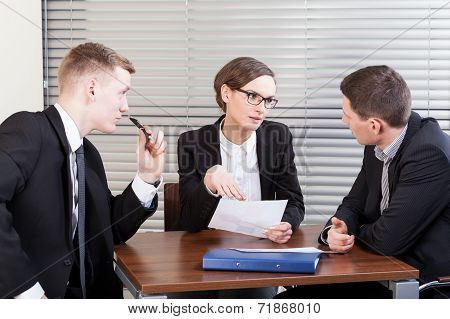 Business Team Trying To Resolve Problem