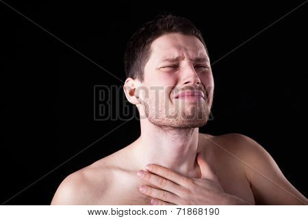 Man With Sore Throat