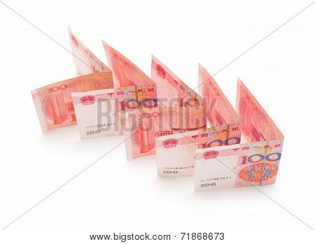 Chinese currency (Renminbi) isolated