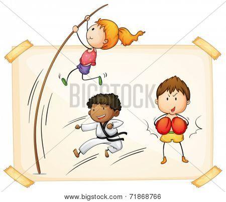 Illustraion of many type of sports