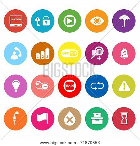 Home Use Machine Sign Flat Icons On White Background