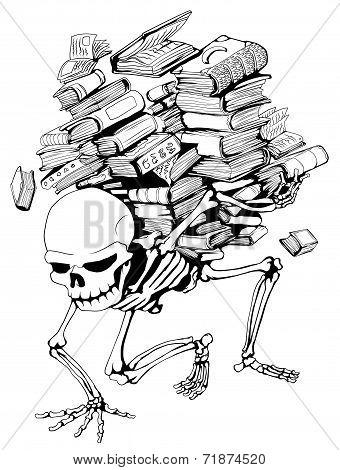 Book Pile Skeleton