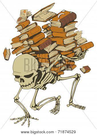 Book Pile Skeleton, Color