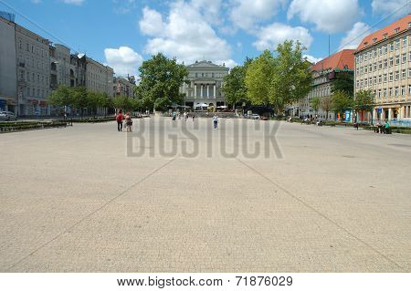 Freedom Square In Poznan, Poland