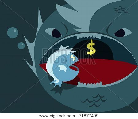 Big fish eats little fish