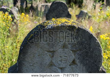 Star Of David On The Old Gravestone