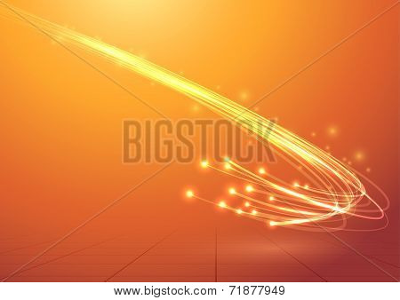 Bright Electric Abstract Cable Speed Bandwidth
