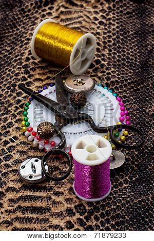 buttons and zipper
