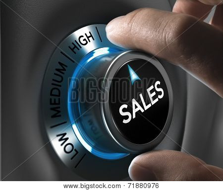 Sales Strategy Concept Image
