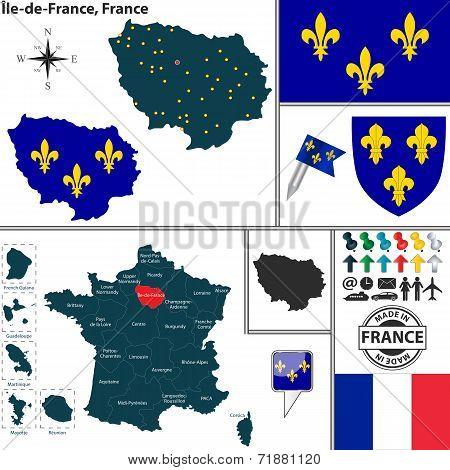 Map Of Ile-de-france, France