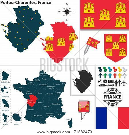 Map Of Poitou-charentes, France