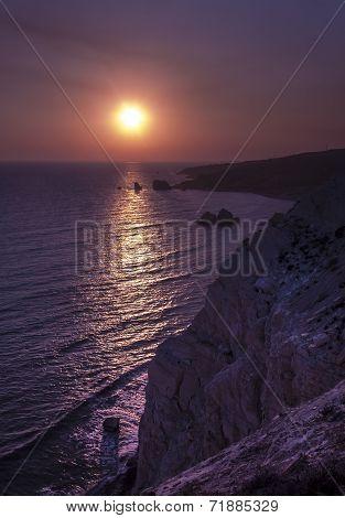 According to legend Aphrodite was born at the Petra Tou Romiou rocks on Cyprus