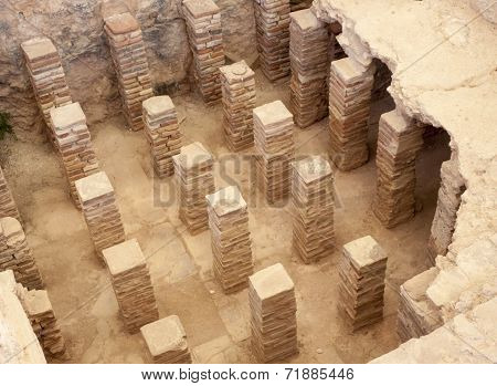 Ancient artifacts from the Roman city of Kourion in Cyprus