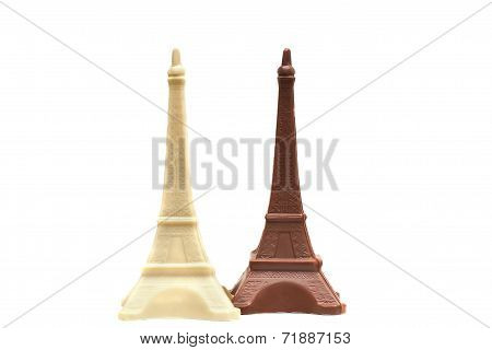 Image of delicious chocolate Eiffel Towers