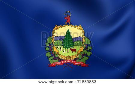 Flag Of Vermont, Usa.