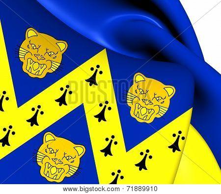 Flag Of Shropshire, England.