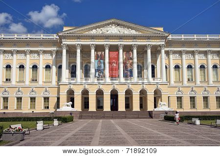 The State Russian Museum In Saint Petersburg, Russia