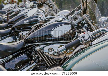 Rear Mirror In A Motorbike