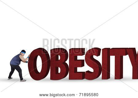 Man With An Obesity Word