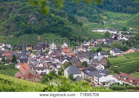 Beautiful Village With Wine Yards