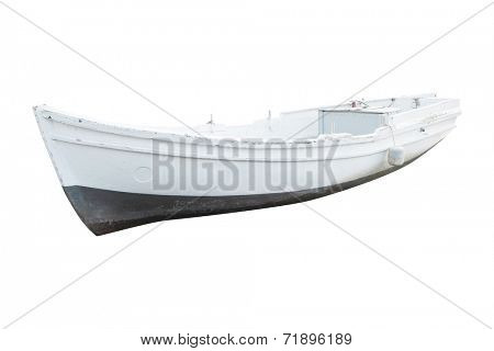 pair-oar under the white background