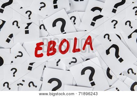 Question Mark And An Ebola Word