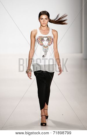 NEW YORK-SEP 8: Miss Teen USA K. Lee Graham on the runway at OUDIFU fashion show at Mercedes-Benz Fashion Week Spring/Summer 2015 at The Salon at Lincoln Center on September 8, 2014 in New York City.