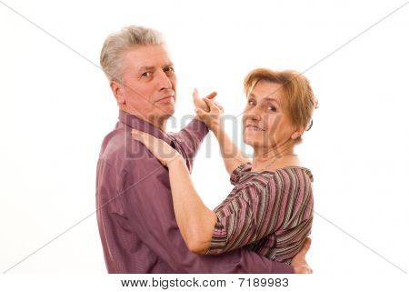 Couple Dancing On A White Background