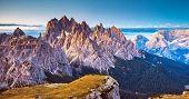 picture of south tyrol  - Great view of the Cadini di Misurina range in National Park Tre Cime di Lavaredo - JPG