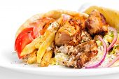 stock photo of gyro  - greek gyros - JPG