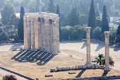 foto of olympian  - The ancient Temple of Olympian Zeus in Athens Greece - JPG