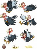 stock photo of buzzard  - Vultures sprites - JPG