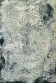 foto of saddening  - Damaged and Moldy old watercolor paper.