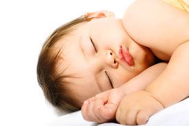 stock photo of sleeping baby  - Adorable sleeping baby - JPG