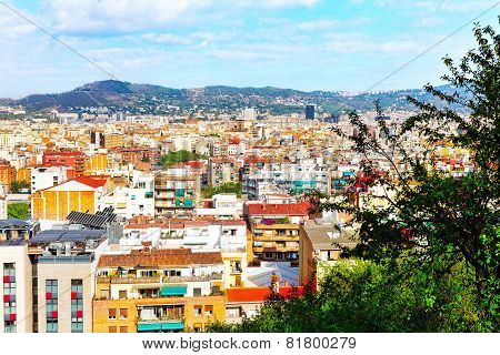 Panorama on Barcelona.