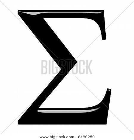 3D Greek Letter Sigma