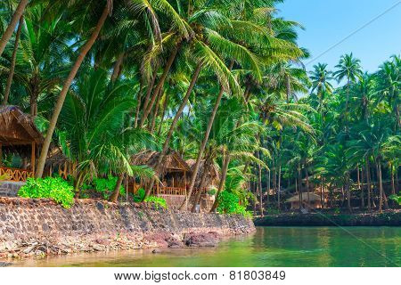 Beautiful Place With The Aboriginal Tropical Wooden Bungalows