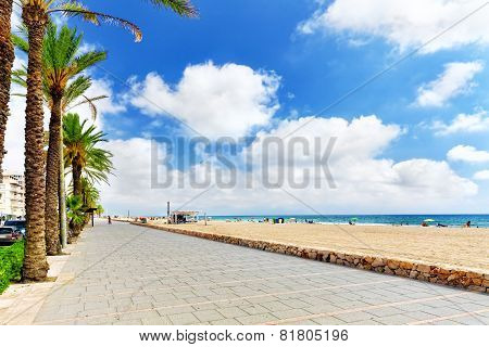 Seafront beachcoast in Spain.