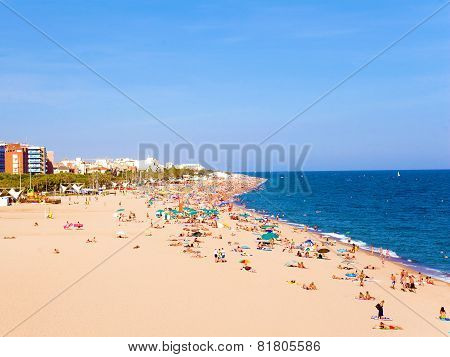 Beaches, Coast In Spain .