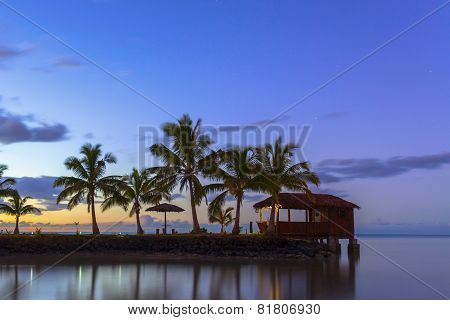 Samoa At Sunset