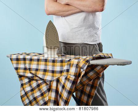 Household Chores, Ironing Man