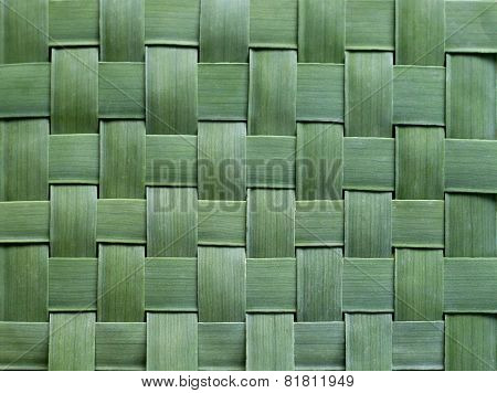 Pattern Weaving Of Banana Leaves