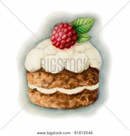Cake With Raspberry